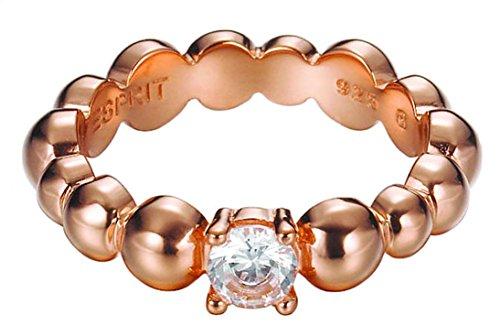 Esprit Jewels Damen-Ring 925 Sterling Silber Solo pellet rose Gr. 53 (16.9) ESRG92321C170