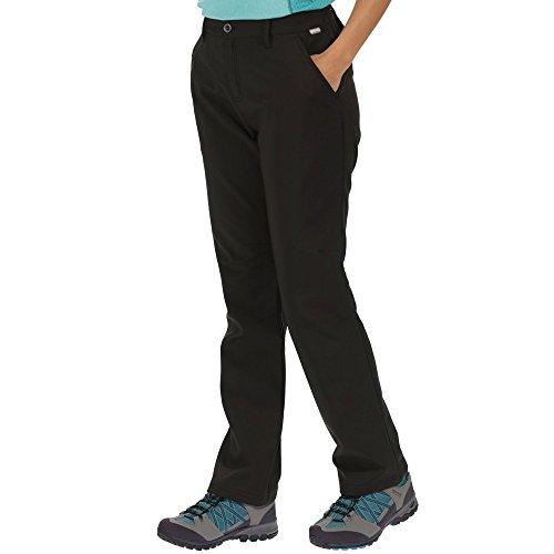Regatta Damen Fenton Water Repellent and Wind Resistant Softshell Short Leg Hose, Schwarz, 42