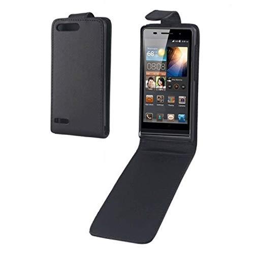 ZHANGQUAN Cubierta de protección QUAN Funda de Cuero con Flip Vertical DFRC para Huawei Ascend G6-T00 3G / P6 Mini (Negro)