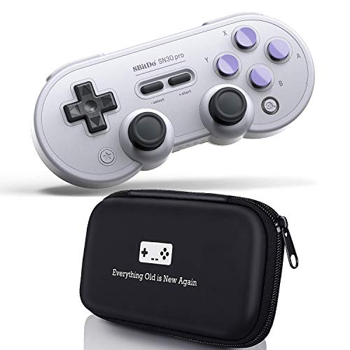Geek Theory 8Bitdo SN30 Pro Bluetooth Gamepad (SN Edition) Bundle - Includes Bonus Carrying Case - Switch, PC, Mac OS, Android