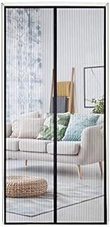 "Magnetic Screen Door,Fits Doors Up to 38""x 82"" Durable Fiberglass Mesh Curtain Magnetic Closure"