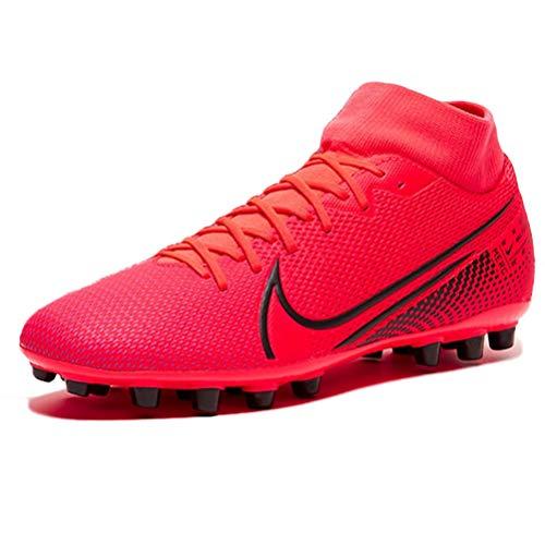 Nike Superfly 7 Academy AG, Zapatillas de fútbol Americano. Unisex Adulto, Laser Crimson-Láser para Crimson, Color Negro, 41 EU