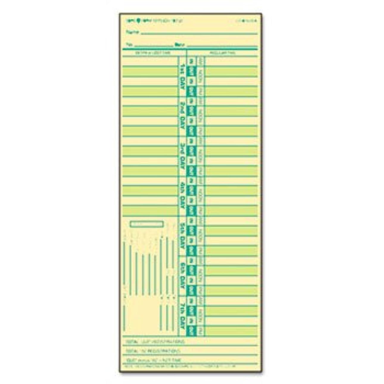 模倣サイドボードばかげている時間カードfor Lathem、隔週、両面、3?1?/ 2?x 9?, 500?/ボックス