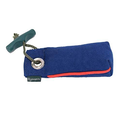 Romneys Suchendummy - Der Mini-Dummy für kleine Hunde 100g - Der Pocketdummy ist schwimmfähig und mit Wurfgriff (blau)