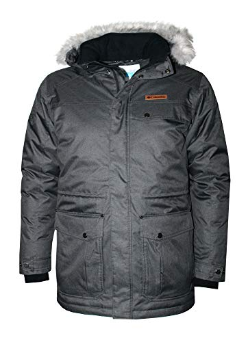 Columbia Mens Bonneville Omni-Heat Down Coat Winter Jacket Parka (Black, M)