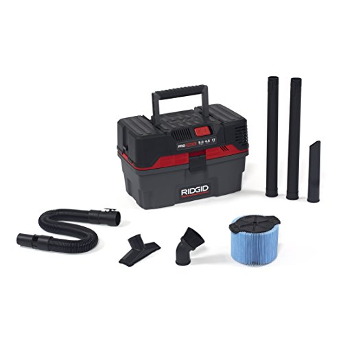 RIDGID 50318 4500RV ProPack Wet Dry Vac, 4.5-Gallon Portable Wet Dry Vacuum with Toolbox Design, 5.0 Peak HP Motor, Expandable Pro Hose, Blower Port