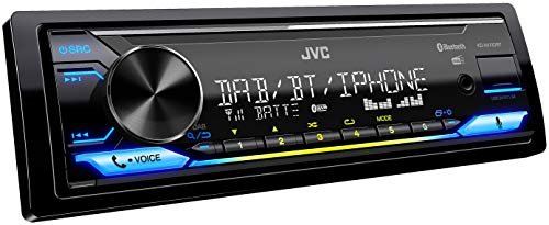 JVC KD-X472DBT USB-autoradio met DAB+ en Bluetooth handsfree systeem (Alexa Built-in, soundprocessor, USB, AUX-in, Spotify Control, 4 x 50 watt, var. verlichting, DAB+-antenne).