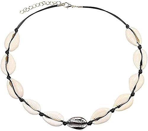 Collar Concha Collar Mujer Joyas Verano Playa Concha Collar Cuerda bohemia Sombrero de vaquero Collar de perlas Collar hecho a mano Mujeres Colgante Collar Regalo para mujeres Hombres Niñas Niños