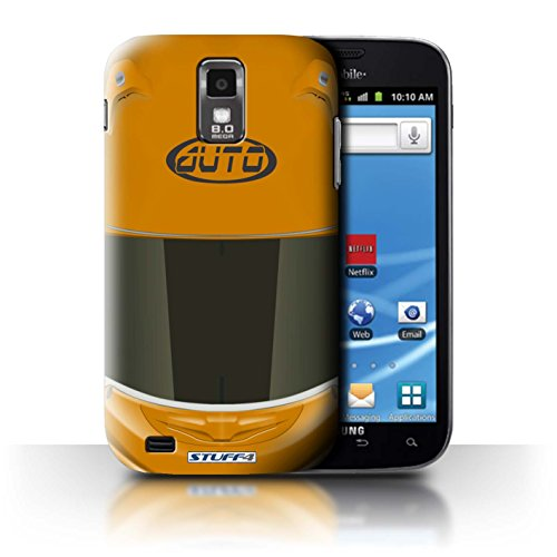 Stuff4® Phone Case/cover/Skin/SGS-CC/Motorcycle Helmet Collection Samsung Galaxy S2 Hercules/T989 Superbike/oranje.