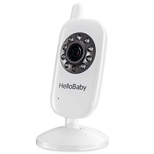 HelloBaby HB32 Monitor Inalámbrico de Vídeo con Cámara Digital, Vigilancia de la Temperatura de Visión Nocturnay 2 Way Talkback System (Adicional cámara)
