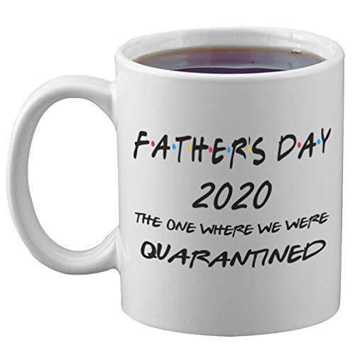 UPKOCH Padri Giorno 2020 Tazza Quello in Cui Sono Stati Messi in Quarantena Tazza di Acqua Potabile in Ceramica per Il Compleanno di Bicchieri Regalo per La Festa del papà a Casa