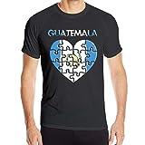 JEFFERYjSPARKS ludouqingJ Camisetas y Tops Hombre Polos y Camisas, Love Guatemala Men's Short Sleeve Shirts Quick-Drying Jogging Tops