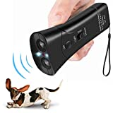 FANZO Handheld Dog Repellent, Dual Channel Ultrasonic Anti Barking Device, Pet Bark Stopper