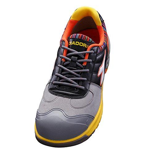 [ディアドラ] 作業靴 スニーカー BJ-812 ブルージェイ グレー&ホワイト&ブラック 29.0cm