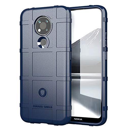 FINEONE Silicona Suave Estuche Carcasa para Nokia 3.4 Funda, Soft TPU Delgado Anti Caída Armor Bumper Antigolpes Case Cover, Azul