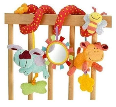 StillCool Juguete Colgante en Espiral de Animales, Cuna para Cuna, Cochecito, Juguete para bebé y niña, sonajero Colgante