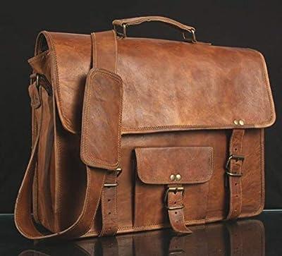 Sacoche en cuir pour ordinateur portable   Messager en cuir pour homme et femme   Porte-documents pour homme   Une sacoche parfaite peut être utilisée pour l'école et le travail (12,5 x 43,2 cm)