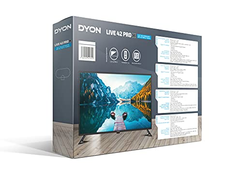 DYON Live 42 Pro X 105,5 cm (42 Zoll) LED-Fernseher (FullHD, Triple Tuner, USB Mediaplayer,schwarz)