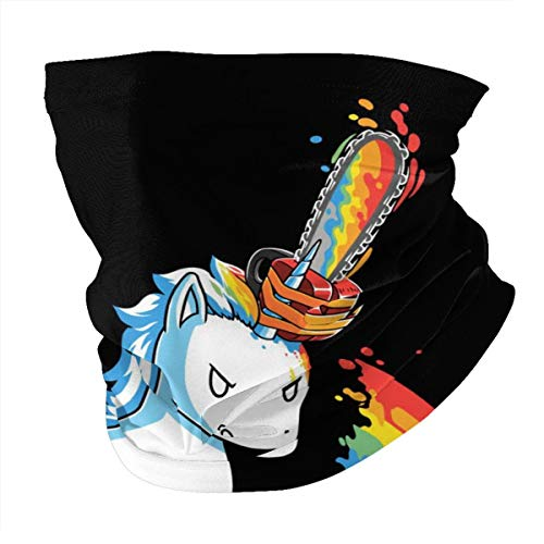 Unicorns Chainsaw Rainbow Outdoor Headwear Face Mask...