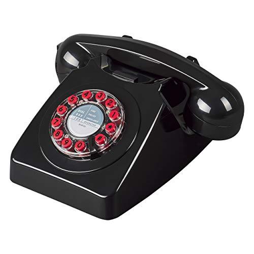 Wild and Wolf 746 Retro-Telefon, Schwarz