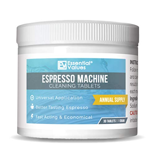 Espresso Machine Cleaning Tablets (30 Tablets), Compatible with Jura, Miele, and Breville Espresso Machines - Made in USA -  Essential Values, Espresso-Cleaning-Tablets