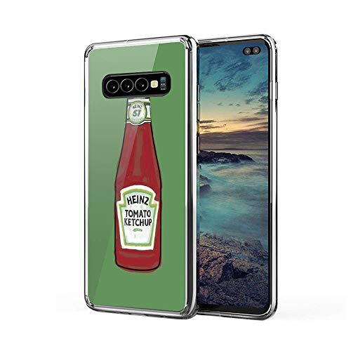 Aupek Samsung Galaxy A70 Case Clear Cases Transparent Soft TPU Protective Cover Heinz Tomato Ketchup