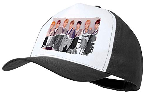 MERCHANDMANIA Gorra Negra BTS Korea Fake Love Music Color Cap