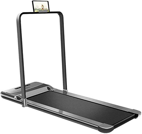 HIHIHI Foldable Treadmill,simple Small Silent Fan Indoor Treadmill,embedded Tablet Phone Holder,walking Treadmill for Home And Office (Color : Black)