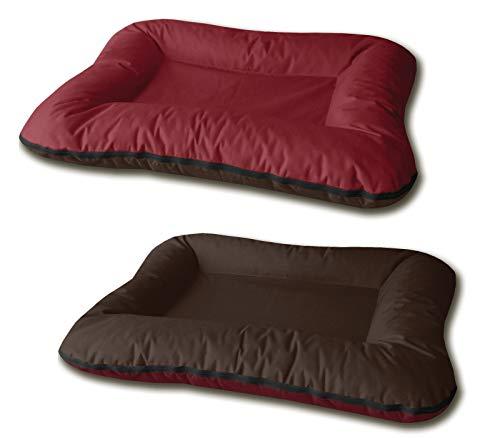 BedDog® 2 en 1 Vera Rojo/Negro XXL Aprox. 120x90cm colchón para Perro, 7 Colores, Cama, sofá, Cesta para Perro