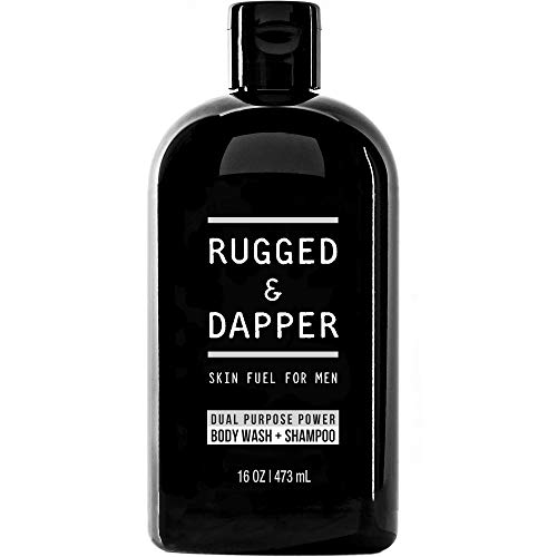 RUGGED & DAPPER Dual-Purpose Body Wash and Shampoo for Men, 16 Oz