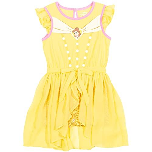 Disney Disfraz de princesa sin mangas - Cenicienta Jasmine Belle Ariel - amarillo - 3 años