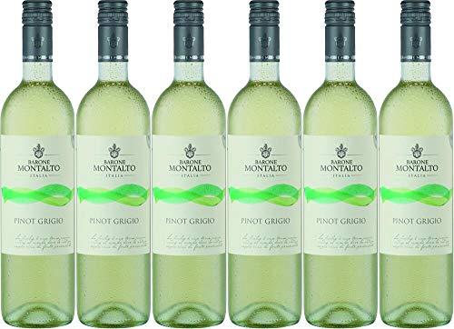 6x Montalto Pinot Grigio Sicilia 2019 - Weingut Barone Montalto, Sicilia - Weißwein