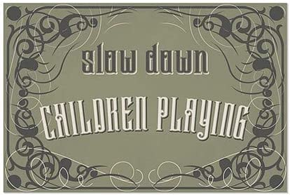 36x24 CGSignLab Slow Down Children Playing Victorian Gothic Window Cling