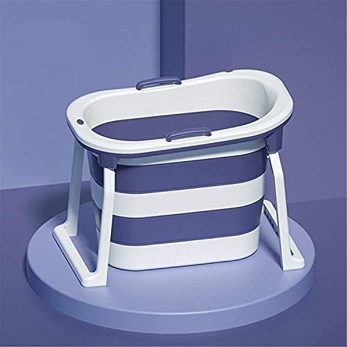 Tragbare Badewanne 102x23.5x68cm Faltbadewanne Tragbare sitzende Duschfass Badewanne für Erwachsene Baby für Heißbad Eisbad (Color : Purple, Size : 103 * 65 * 76.5cm)