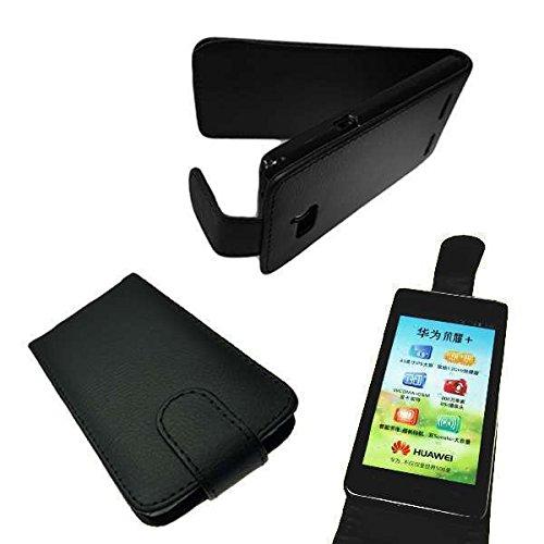 caseroxx Flip Cover für Huawei Ascend G610, Tasche (Flip Cover in schwarz)