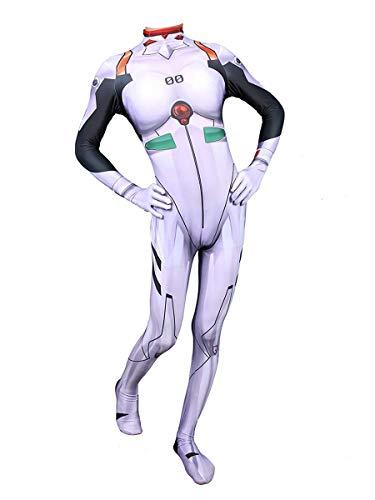 CXYGZLJ Neon Genesis Evangelion Ayanami Traje de Batalla, Cosplay Anime Tights Traje de Halloween, Adultos Unisex Los nios Conjuntos de SIIAMESOS Vestido Elegante,Women S