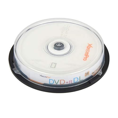 XtremPro DVD+R DL 8X 8.5GB 240min DVD de Doble Capa grabable 10 Unidades de Discos en Blanco en husillo – 11045