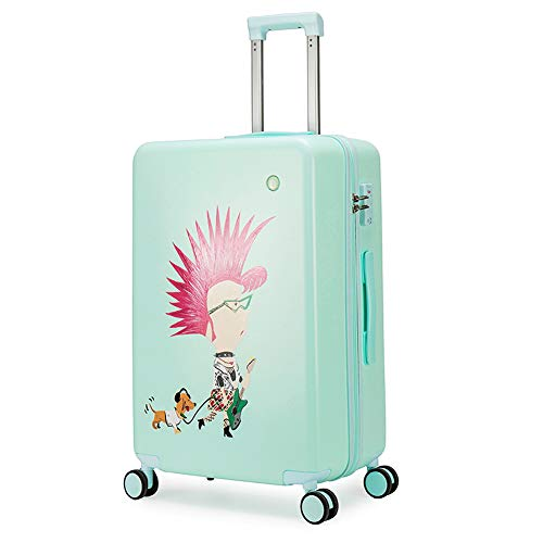 Suitcase Trolley, Suitcase Luggage,Graffiti Art, Fashion Trends,Carry on Hand Cabin Luggage Hard Shell Travel Bag Lightweight,Durable 4 Spinner Wheels,24 inch