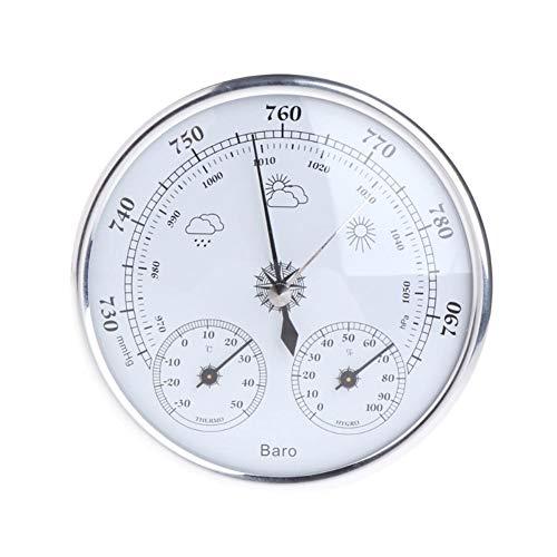 YHDNCG Barómetro, monitor de pared para el hogar, barómetro tres en uno, termómetro, higrómetro, decoración de la pared del hogar