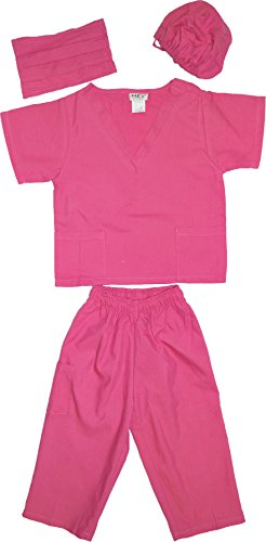 Kids Doctor Dress up Surgeon Costume Set, 6/8, Fuchsia