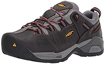KEEN Utility Men's Detroit XT Low Steel Toe Metatarsal Guard Work Shoe Construction Boot, Grey/Bossa Nova, 9 Medium US
