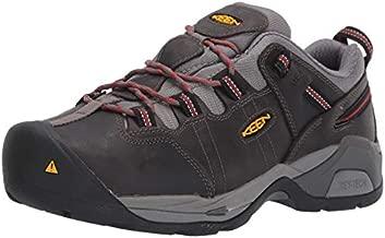 KEEN Utility Men's Detroit XT Low Steel Toe Metatarsal Guard Work Boot, Steel Grey/Bossa Nova, 12 Wide US
