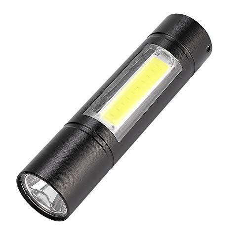 懐中電灯トーチ、屋外キャンプ緊急用のUSB充電LED懐中電灯ポータブルXPR + COBトーチ