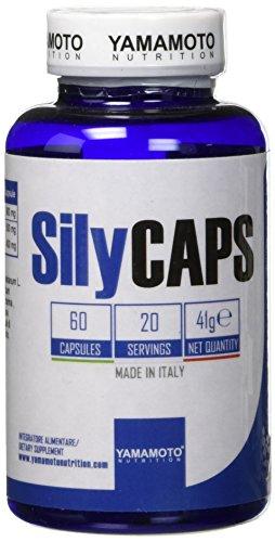 Yamamoto Nutrition SilyCAPS integratore alimentare di Cardo mariano in polvere ed estratto titolato all'80% di Silimarina 60 capsule