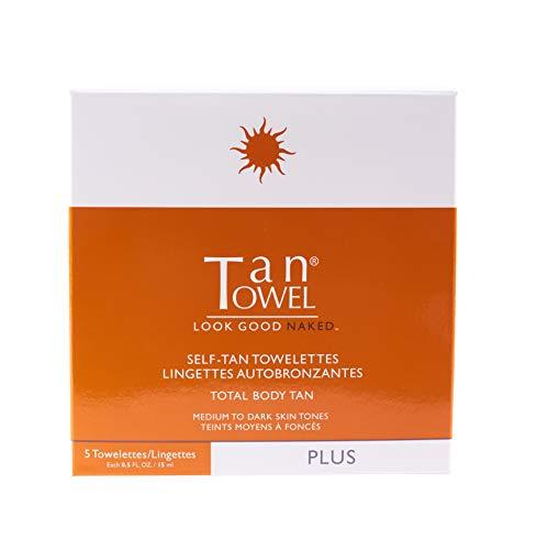 Tan Towel Plus Self-Tan Towelette, Full Body, 5 Count