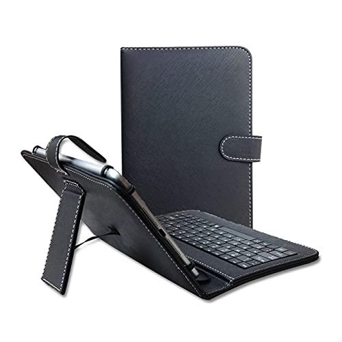 Cheap tastiera universale in pelle PU case Custodia Tastiera Tablet per 9 inch-10.1 pollici Android Tablet PC con cavo micro USB