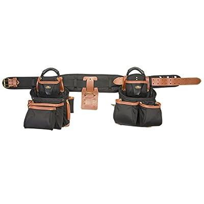 CLC Custom LeatherCraft 51452 4 Piece Top Of The Line Pro Framer's Tool Belt from Custom Leathercraft