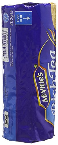 McVitie's Simply Classic Rich Tea Biscuits, 7.05-Ounce Package (Pack of 6)