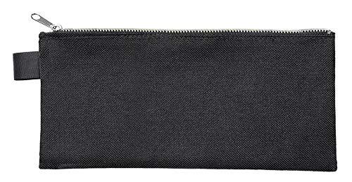 Veloflex 2726000 Banktasche DIN lang, Transporttasche, Geldtasche, robustes Textil, Metallreißverschluss, schwarz