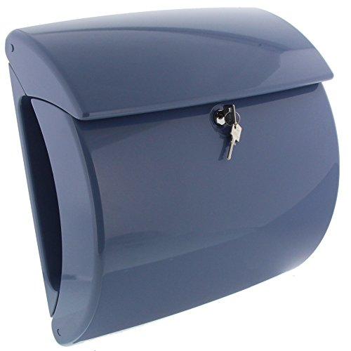 BURG-WÄCHTER, Briefkasten mit integriertem Zeitungsfach in Klavierlack-Optik, A4 Einwurf-Format, EU Norm EN 13724, Hochwertiger Kunststoff, Piano 886 LB, Light Blue